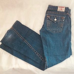 True Religion Jeans Size 30Womens Joey Flare Flap